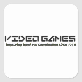 Video Games: Improving Hand Eye Coordination Square Sticker