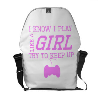 Video Games Like A Girl Courier Bags