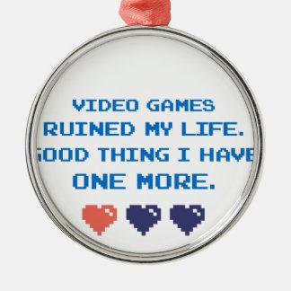 VIDEO GAMES METAL ORNAMENT