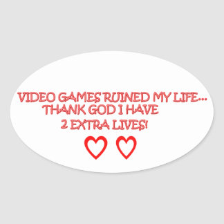 video games oval sticker
