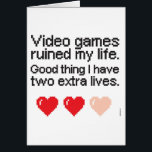 """Video Games ruined my life Christmas card<br><div class=""""desc"""">Video Games ruined my life Christmas card</div>"""