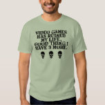 Video games ruined my life colored tee