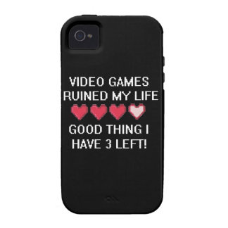 Video Games Ruined My Life Style 1 iPhone 4 Covers