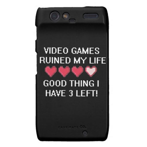 Video Games Ruined My Life Style 1 Motorola Droid RAZR Cover