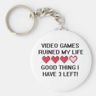 Video Games Ruined My Life Style 1 Keychain