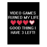 Video Games Ruined My Life Style 1 Postcard
