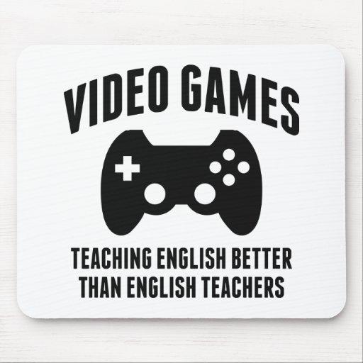 Video Games Teaching English Mousepads