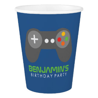 Video Games Themed Birthday Party Paper Cup