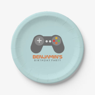 Video Games Themed Birthday Party Paper Plate