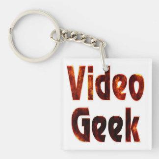 Video Geek Fire Keychain
