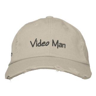 Video Man Embroidered Hat