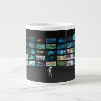 Video Marketing Across Multiple Channels Large Coffee Mug