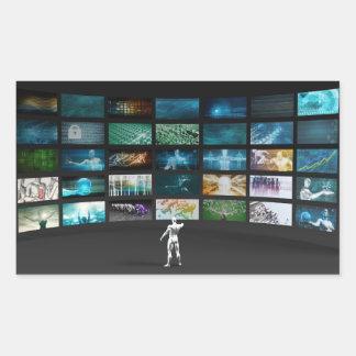 Video Marketing Across Multiple Channels Rectangular Sticker