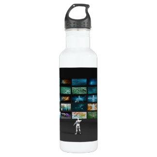 Video Marketing Across Multiple Channels Water Bottle