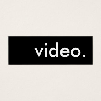 video. mini business card