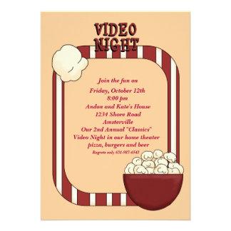 Video Night Party Invitation