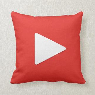 Video Play Button Pillow