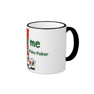 Video Poker Addict's ringer mug