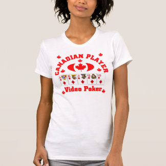 Video Poker Canadian Player T-Shirt