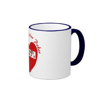 Video poker : I love video poker red Ringer Mug
