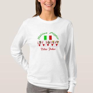 Video Poker: Italian video poker player T-Shirt