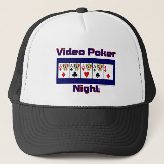 video poker night trucker hat