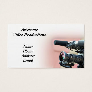 Video Productions and Media Services Business Card