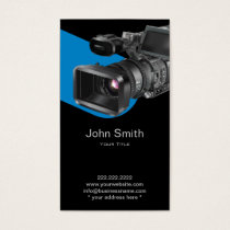 Video Recording Photography Professional Business Card