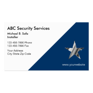 Video Security Business Cards