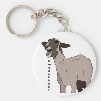 Video star goat screaming! basic round button keychain