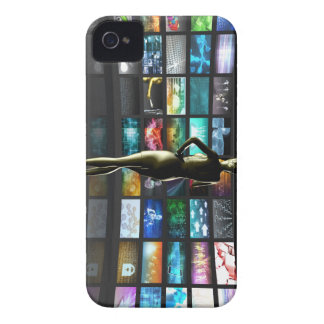 Video Streaming as Technology Concept with Lady iPhone 4 Case-Mate Case