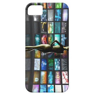 Video Streaming as Technology Concept with Lady iPhone SE/5/5s Case