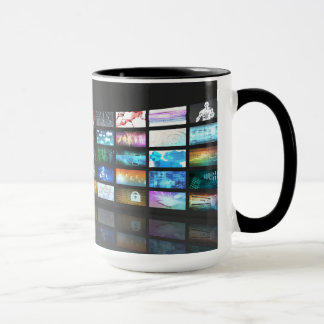 Video Streaming as Technology Concept with Lady Mug