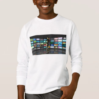 Video Streaming as Technology Concept with Lady T-Shirt