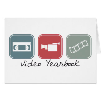 Video Yearbook (Squares) Greeting Card