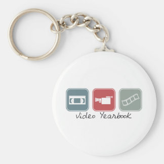 Video Yearbook (Squares) Basic Round Button Keychain