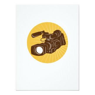 Videocámara profesional de la cámara de vídeo invitación 13,9 x 19,0 cm