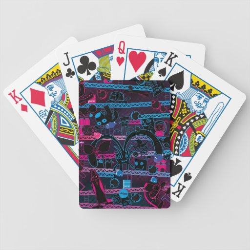 Videogame cute art bunny rabbit playing cards