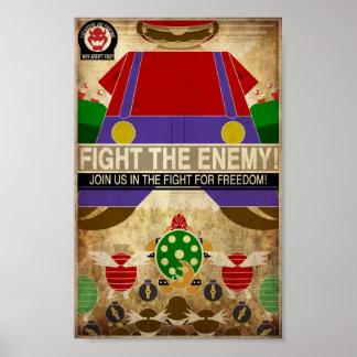 Videogame Propaganda Poster