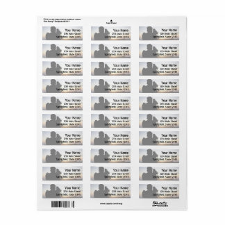 Videographer Address Sheet of Labels