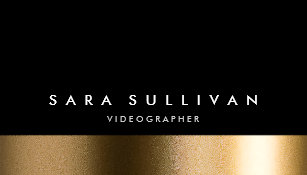 Videographer business cards zazzle videographer bold black gold business card reheart Gallery