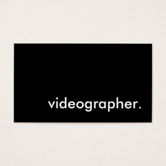 videographer. business card