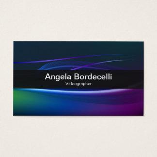 Videographer Business Card Borealis Lights