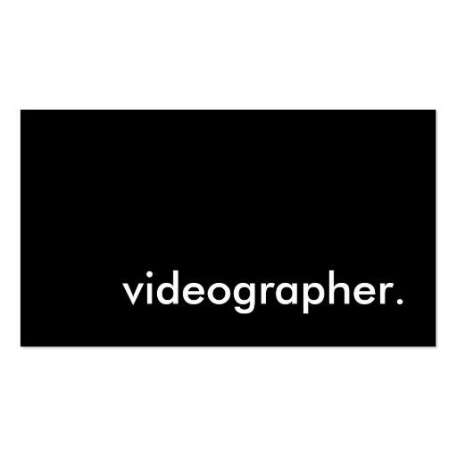 Videographer double sided standard business cards pack for Videographer business cards