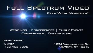 Videographer business cards templates zazzle videographer business cards colourmoves