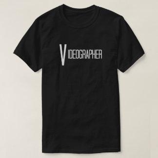 Videographer in Fun Text T-Shirt