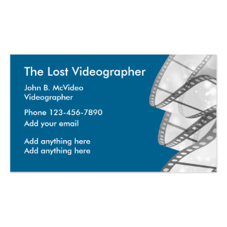 Commercial events gifts on zazzle for Videographer business cards