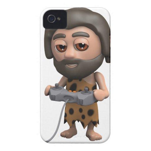 videojuego del hombre de las cavernas 3d funda para iPhone 4 de Case-Mate