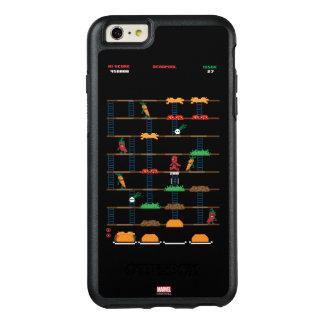 Videojuego retro del Taco de Deadpool Funda Otterbox Para iPhone 6/6s Plus