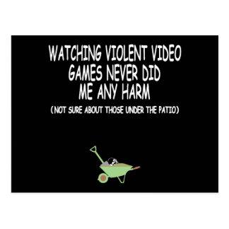 Videojuego violento tarjeta postal